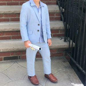 H&M blue suit jacket and pants size 5-6